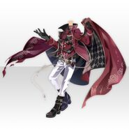 (Tops) Night Phantom Thief Cloak Style ver.A red
