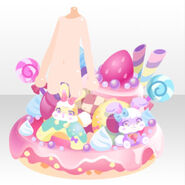 (Avatar Decor) Rainbow Rabbit on Pancake ver.A pink