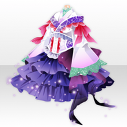 (Tops) Blooming Flowers Frilled Kimono Dress ver.A purple