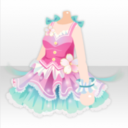(Tops) Cherry Blossoms Idol One-Piece ver.A pink