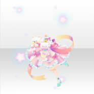 (Tops) Happy Teddy Ribbon Girl Style ver.A pink