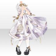 (Tops) Night Phantom Mademoiselle Frill Dress ver.A white