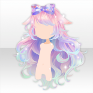 (Hairstyle) Harvest Moon Bunny Ears Long Hair ver.A pink