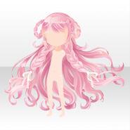 (Hairstyle) CocoPPa Dolls Princess Amar Hair ver.A pink