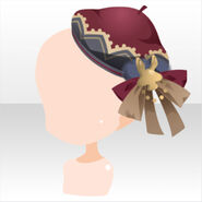 (Head Accessories) Champignon Bow on Beret ver.A red