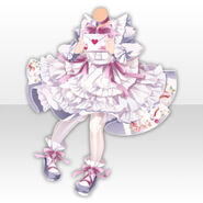 (Tops) Alice Fantastic Apron Dress ver.A white