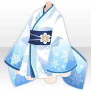 (Tops) Snowflakes Print Yuki-onna One-Piece ver.A blue