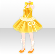 (Tops) Sunny Cheer Cute Frill Dress ver.A yellow