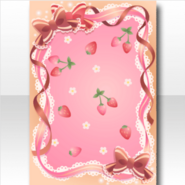 (Wallpaper Profile) Sweet Strawberry Wallpaper ver.A pink