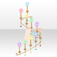 (Avatar Decor) Sparkle Colorful Candle ver.A pink