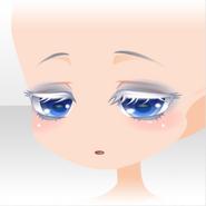 (Face) Praying Downward Eyes Face ver.A blue