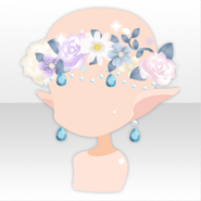 (Face Accessories) Become Elf Flower Head Dress ver.A pink