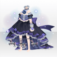 (Tops) Hollow Park Merry-Go-Round Long Tail Dress ver.A purple