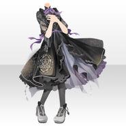 (Tops) Night Phantom Mademoiselle Frill Dress ver.A black