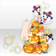 (Avatar Decor) Pumpkin Tree and Hungry Ghosts ver.A orange