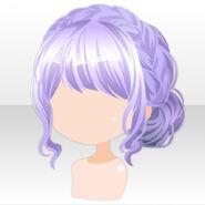 (Hairstyle) Fontana Braid Up Hair ver.A purple