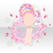 (Head Accessories) Dolls Tea Party Frill Lace Bonnet ver.A pink
