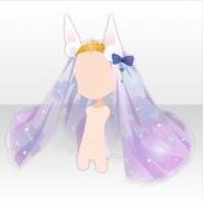 (Head Accessories) Prism Moon Rabbit Ears Lace Veil ver.A purple