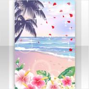 (Show Items) Hawaiian Resort Sea & Flowers at Sunrise Stage ver.1