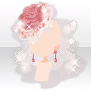 (Head Accessories) Marie Shining Rose Hat ver.A pink