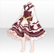 (Tops) Secret Fleur Frilled Corset Dress ver.A red