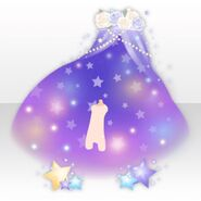 (Avatar Decor) Night Dress Party Starry Sky Canopy ver.A purple