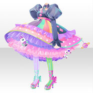 (Tops) CocoPPa Dolls Colorful Rocket Dress ver.A pink