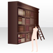 (Back Accessories) Bookshelf in Mysterious Library ver.A red