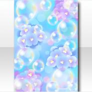 (Wallpaper Profile) Bubbles & Hydrangea Watercolor Wallpaper ver.A blue