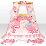 (Avatar Decor) Princess Bed decorated with Roses ver.A pink