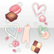 (Avatar Decor) Surrounded by Sweets and Heart ver.A pink