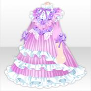 (Tops) Hydrangea Pleated Dress ver.A purple