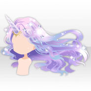 (Hairstyle) Unicorn Maiden Horn and Long Hair ver.A purple