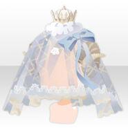 (Head Accessories) Dream Cloud Veil Crown ver.A white