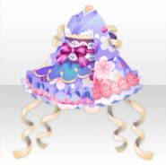 (Tops) Harvest Moon Frilled Mini Kimono Dress ver.A purple