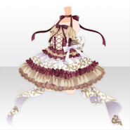 (Tops) Peluche Ballerina Dress ver.A red