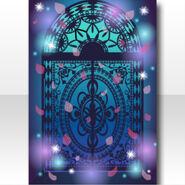 (Wallpaper Profile) Falling Petals & Papercut Wallpaper ver.A blue