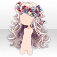 (Hairstyle) Oblivious Flower Curly Long Hair ver.A white