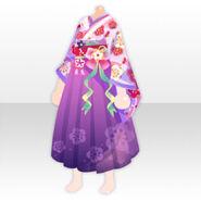 (Tops) Taisho Roman Fashionable Hakama ver.A purple