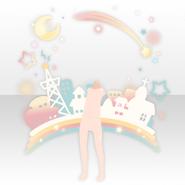 (Avatar Decor) Cute Star Town & Rainbow ver.A white