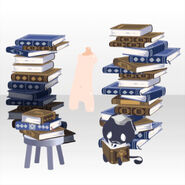 (Body Accessories) Piled Up Books and Familiar ver.A blue