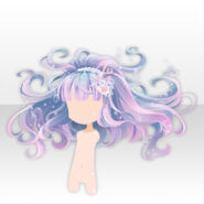 (Hairstyle) Jewel Mermaid Fluffy Long Hair ver.A blue