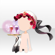 (Head Accessories) Maid Cap and Poisoned Wine ver.A red