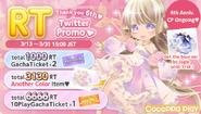 (Twitter) CocoPPa Play 6th Anniversary Promo 1- RT Twitter