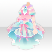 (Tops) Gradation Flower One-Piece ver.A pink