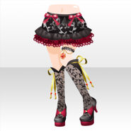 (Pant Skirt) Bad Girl Lacy Boots ver.A black