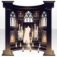 (Back Accessories) Prayer Altar ver.A black