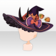 (Face Accessories) Mononoke Ground Cherry Frilled Witch Hat ver.A black