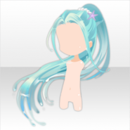 (Hairstyle) Little Mermaid in Sea Ponytail Hair ver.A blue