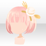 (Hairstyle) Vanilla Ice Cream Pin on Bob Hair ver.A pink